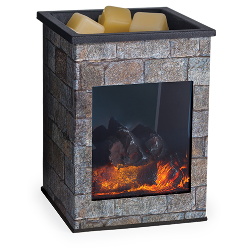 DECOR MARKET - CW FLHST -GLASS ILLUMINATION FRAGRANCE WARMER - HEARTHSTONE