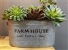 DECOR MARKET - OSW180180 - METAL FARM HOUSE BUCKET