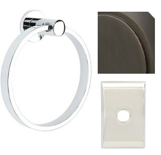 MODERN TOWEL RING W/ NEOS ROSE 10B