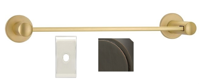 "MODERN BRASS 30"" TOWEL BAR W/ NEOS ROSE"