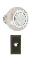 "EMTEK - BELMONT - PRIVACY KNOB - RECTANGULAR ROSETTE - OIL RUBBED BRONZE - 2 3/8"" BACKSET"