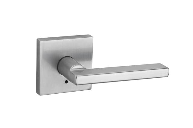 KWIKSET - HALIFAX - SQUARE - PRIVACY DOOR LEVER - 26D - SATIN CHROME
