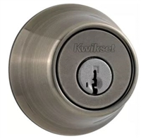 KWIKSET - SINGLE CYLINDER DEADBOLT - SMART KEY - 15A - ANTIQUE NICKEL
