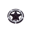 LONE STAR COLLECTION ORNAMENTAL STAR KNOB IN OIL RUBBED BRONZE AND SILVER