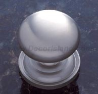 JVJ MAXWELL - ROUND KNOB WITH BACKPLATE - SATIN NICKEL