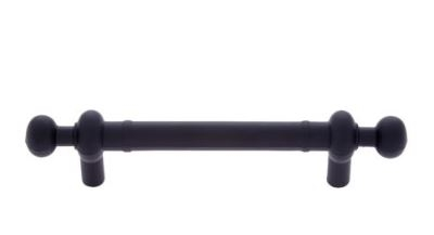 "JVJ MAXWELL - PULL W/ BEADS ON END - 3"" CENTER TO CENTER - MATTE BLACK"
