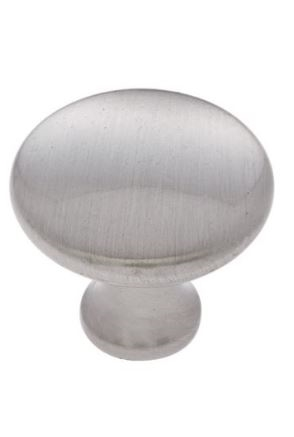 "JVJ MAXWELL - DOMED KNOB - 1-1/4"" DIAMETER  - SATIN NICKEL"