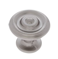 "JVJ MAXWELL - RIPPLE KNOB - 1 1/4"" DIAMETER - SATIN NICKEL"