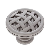 "JVJ MAXWELL - CRISSCROSS KNOB - 1 1/2"" DIAMETER - SATIN NICKEL"