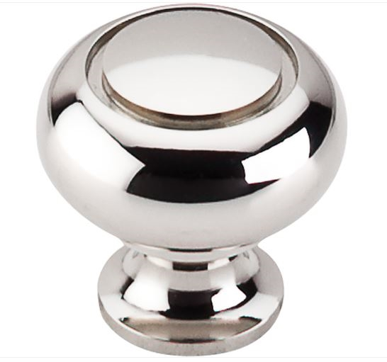 "TOP KNOBS - 1 1/4"" RING KNOB - POLISHED NICKEL"