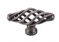 TOP KNOBS - SMALL OVAL TWIST KNOB - PEWTER