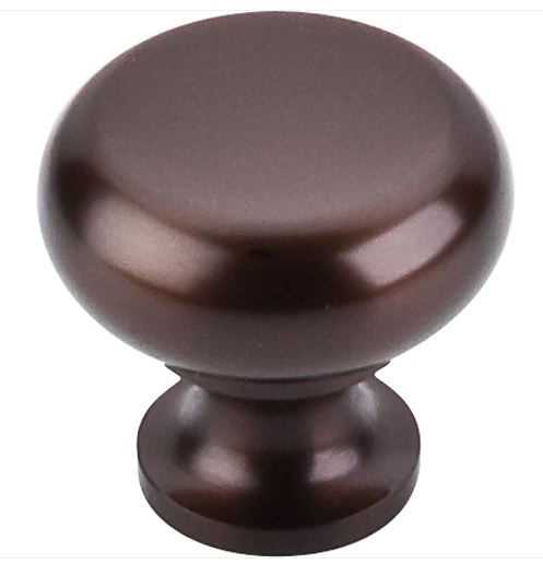 TOP KNOBS - FLAT ROUND KNOB - OIL RUBBED BRONZE