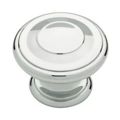 "TWH - 3 RINGED KNOB - 1 1/4"" DIAMETER - POLISHED CHROME"
