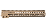 "Geissele Automatics, MK14, Super Modular Rail, 13.5"", MLOK, Desert Dirt Color Finish, Barrel Nut Wrench Sold Separately (GEI-02-243), Gas Block Not Included"