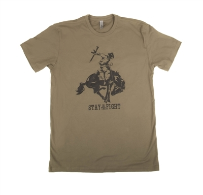 VTAC STAY IN THE FIGHT (BUCKING HORSE) T SHIRT