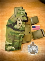 SAFARILAND 6354DO Holster GLOCK 17/22 Multicam holster (light on gun)