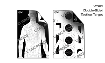 VTAC DOUBLE-SIDED PAPER TARGET 100 PACK