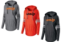 Level Up Ladies Hooded Low Key Pullover