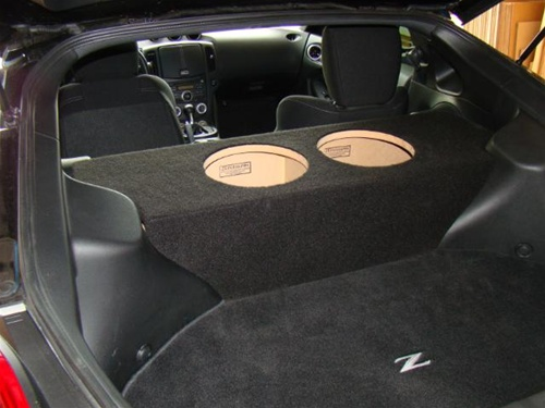 """ZEnclosures 2-8/"""" UPFIRE Subwoofer Speaker Sub Box for the Nissan 370Z Coupe"""