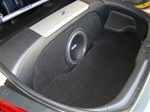 "Nissan 350Z 1-12"" Under Strut Bar Subwoofer Box"