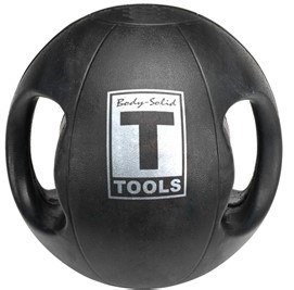 Body Solid Dual-Grip Medicine Ball - 18 lb. Image