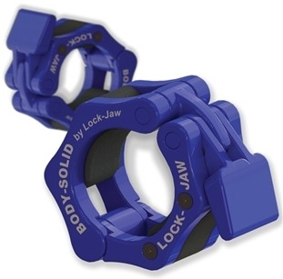 Body Solid LockJaw Olympic Collar - Blue Image