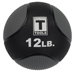 Body Solid 12lb. Medicine Ball - Black Image