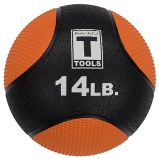Body Solid BSTMB14 14lb. Medicine Ball - Orange Image