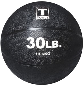 Body Solid 30lb. Medicine Ball - Black Image