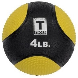 Body Solid BSTMB4 4lb. Medicine Ball - Yellow Image
