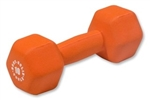 Body Solid Neoprene Dumbbell- 10 lb. Orange Image