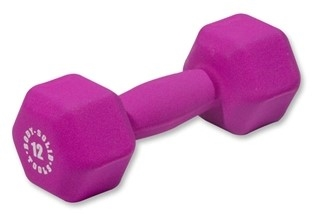 Body Solid Neoprene Dumbbell- 12 lb. Pink Image