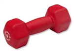 Body Solid Neoprene Dumbbell- 6 lb. Red Image