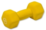 Body Solid Neoprene Dumbbell- 9 lb. Yellow Image
