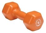 Body Solid BSTVD10 Vinyl Dumbbell 10 lb. Orange Image