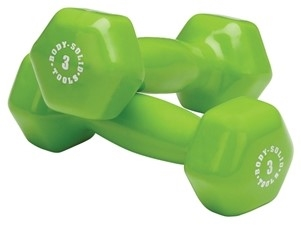 Body Solid Vinyl Dumbbell 1 lb-15 lbs Ideal For a Variety of Exercises