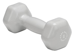 Body Solid Vinyl Dumbbell 4 lb. Light Gray Image
