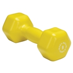 Body Solid Vinyl Dumbbell 9 lb. Yellow Image