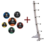 Body Solid GMR10PACK Medicine Ball Package w/Rack Image