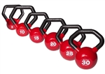 Body Solid KBLS105 Vinyl Dipped Kettleball Set 5-30 lb. Image