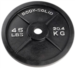 Body Solid OPB45 Olympic Weight Plate- 45 lbs Image