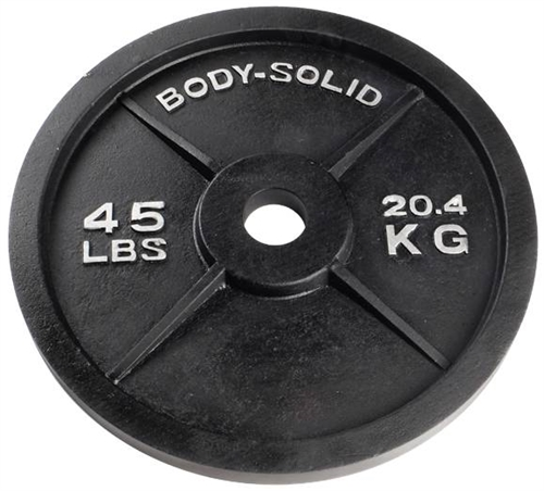 Body Solid Olympic Weight Plate 45 Lbs Fitness Superstore