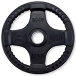 Body Solid ORT25 Rubber Grip Olympic Plate 25 Lbs Black Image