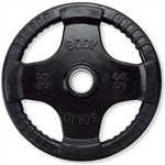 Body Solid ORT35 Rubber Grip Olympic Plate 35 Lbs Black Image