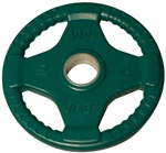 Body Solid ORTC10 Rubber Grip Olympic Plate 10 Lbs Green Image