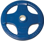 Body Solid Rubber Grip Olympic Plate 35 Lbs Blue Image