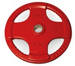 Body Solid ORTC45 Rubber Grip Olympic Plate 45 Lbs Red Image