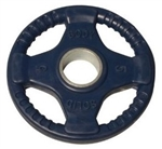 Body Solid Rubber Grip Olympic Plate 5 Lbs Dark Blue Image