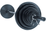 Body Solid Olympic Weight Set 300 Lbs.- Chrome Bar. Image