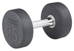 Body Solid SDP25 Rubber Round Dumbbell 25 Lb. Image